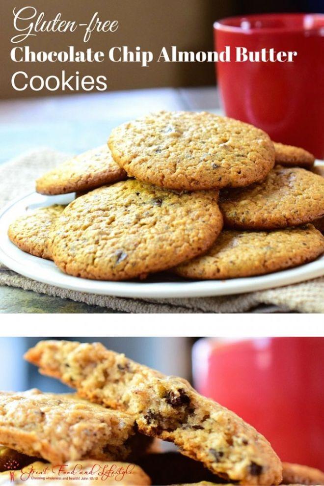 Gluten Free Chocolate Chip Almond Butter Cookies