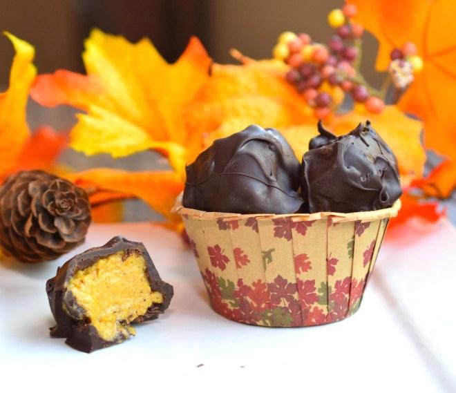Began Pumpkin Pie Truffles