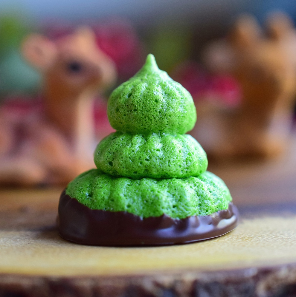 Paleo Peppermint Meringue Christmas Trees   My Favorite Christmas Cookies To Make From Scratch