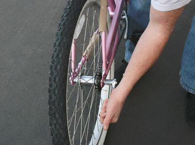 put rear wheel on bike