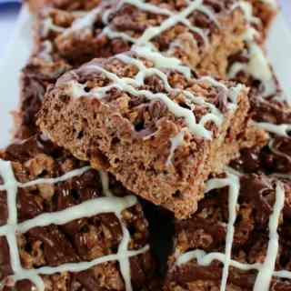 Chocolate Toffee Krispie Treats