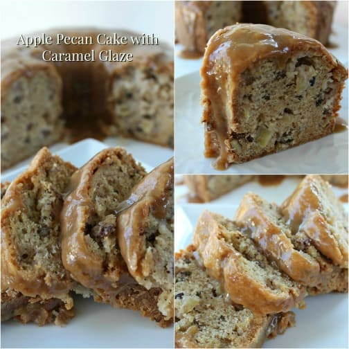 Apple Pecan Cake with Caramel Glaze - Great Grub ...