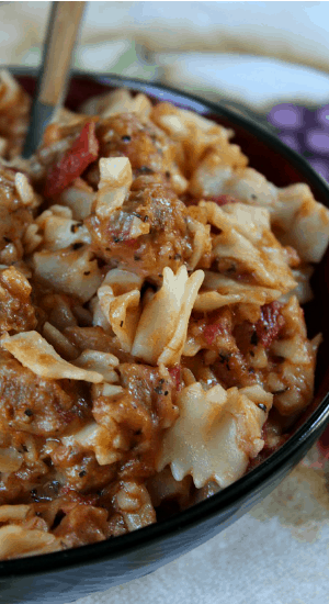Farfalle with Sausage