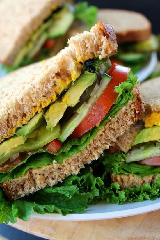 Crispy Veggie Sandwich - Great Grub, Delicious Treats