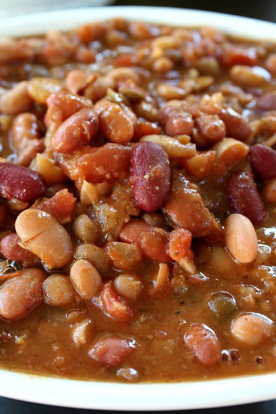 Crock Pot Multi Bean Soup