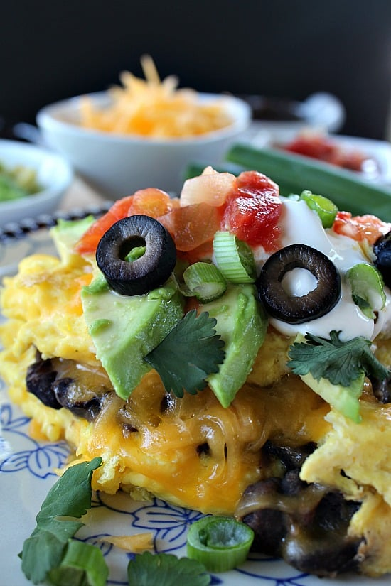 Black Bean Mexican Omelette