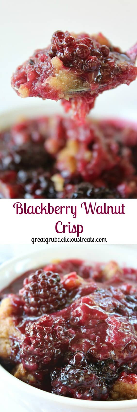 Blackberry Walnut Crisp