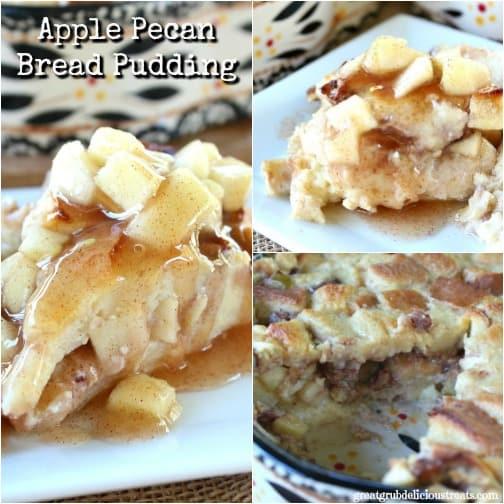 Apple Pecan Bread Pudding