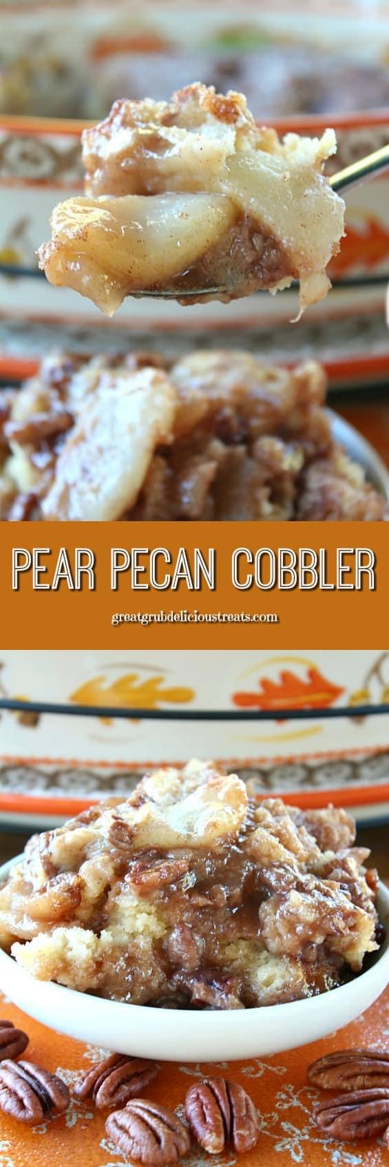Pear Pecan Cobbler