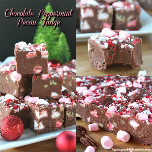 Chocolate Peppermint Pecan Fudge