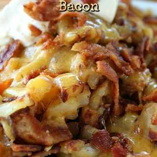 Cheesy Breakfast Potatoes with Crispy Bacon