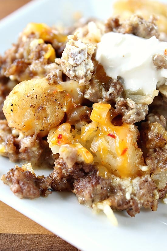 Spicy Tater Tot Casserole