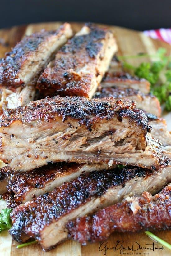BBQ Dry Rub Pork Ribs