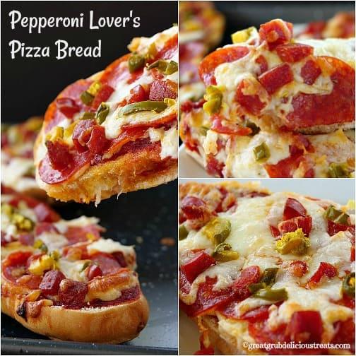 Pepperoni Lover's Pizza Bread