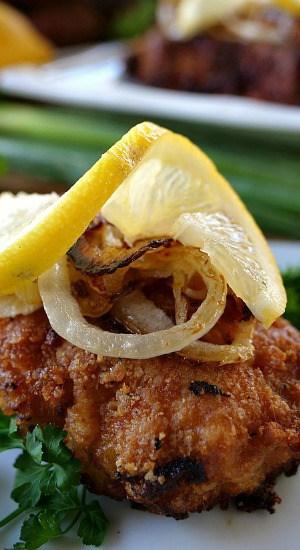 Parmesan Crusted Lemon Pork Chops