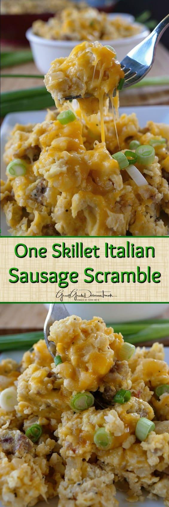 One Skillet Italian Sausage Scramble