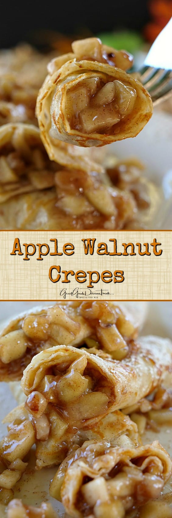 Apple Walnut Crepes