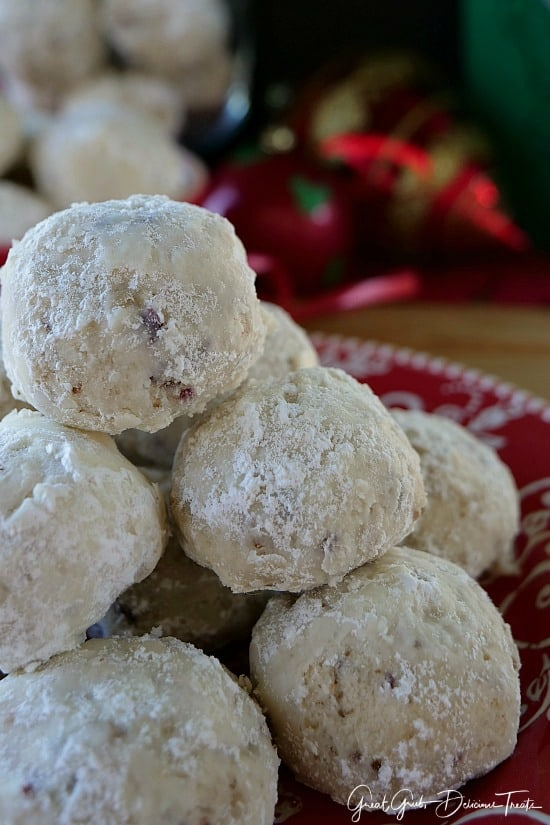 Cranberry Walnut Cookie Balls