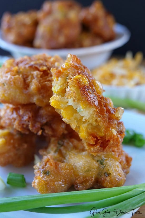 Cheesy Corn Fritter Bites