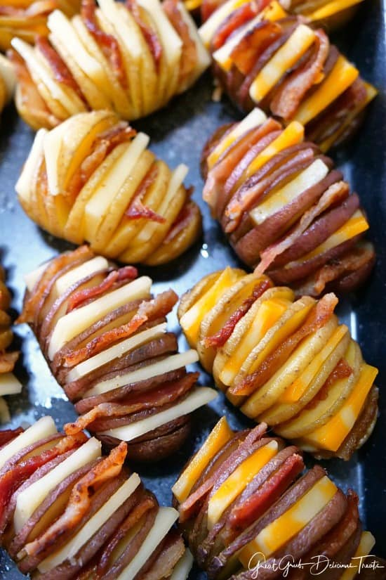 Bite-Size Hasselback Potatoes