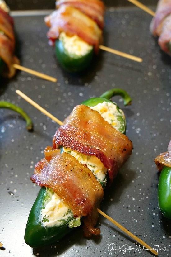 Bacon Wrapped Stuffed Jalapeños