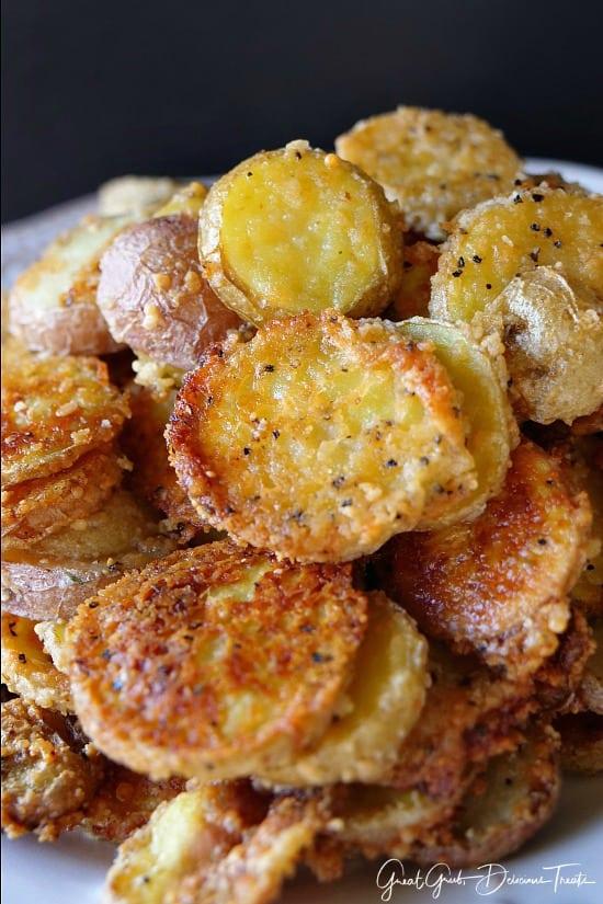 Mini Baked Parmesan Potato Rounds