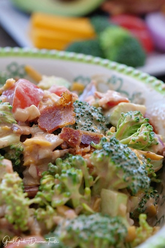 BBQ Bacon Broccoli Avocado Salad