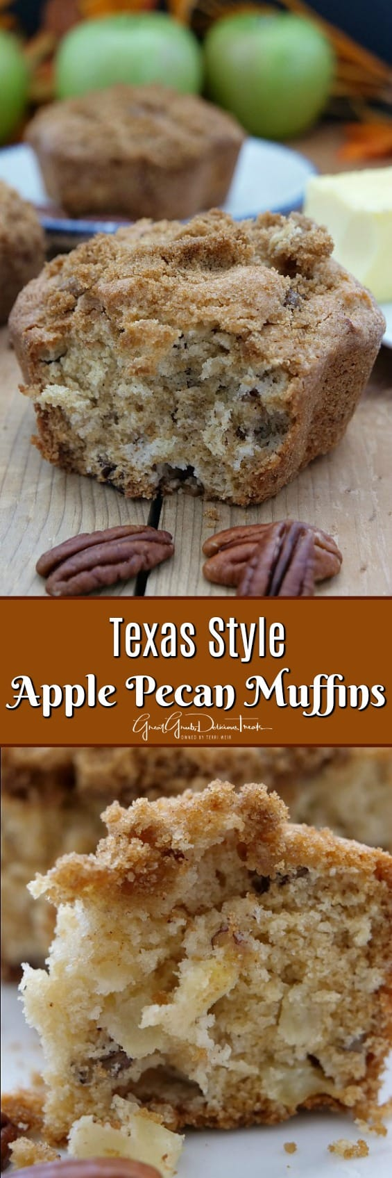 Texas Style Apple Pecan Muffins