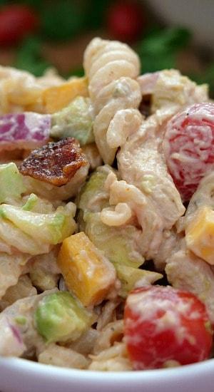 Barbecue Chicken Bacon Pasta Salad