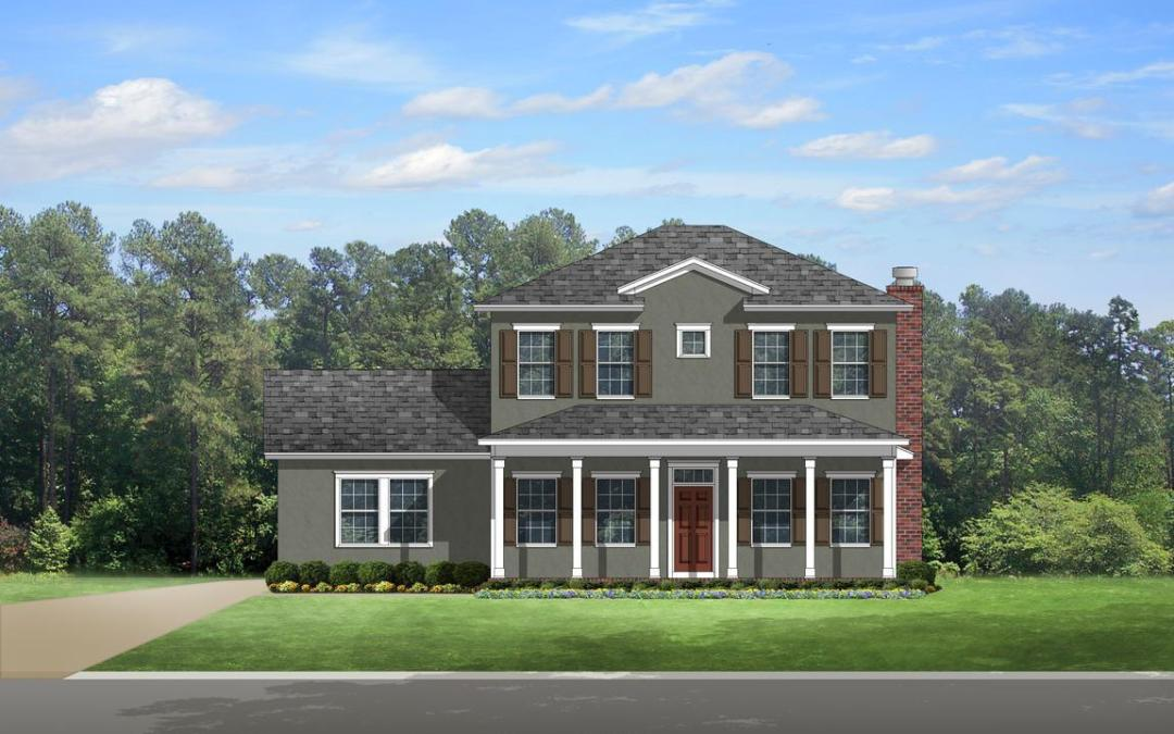 Colonial Home Plan 556-2920