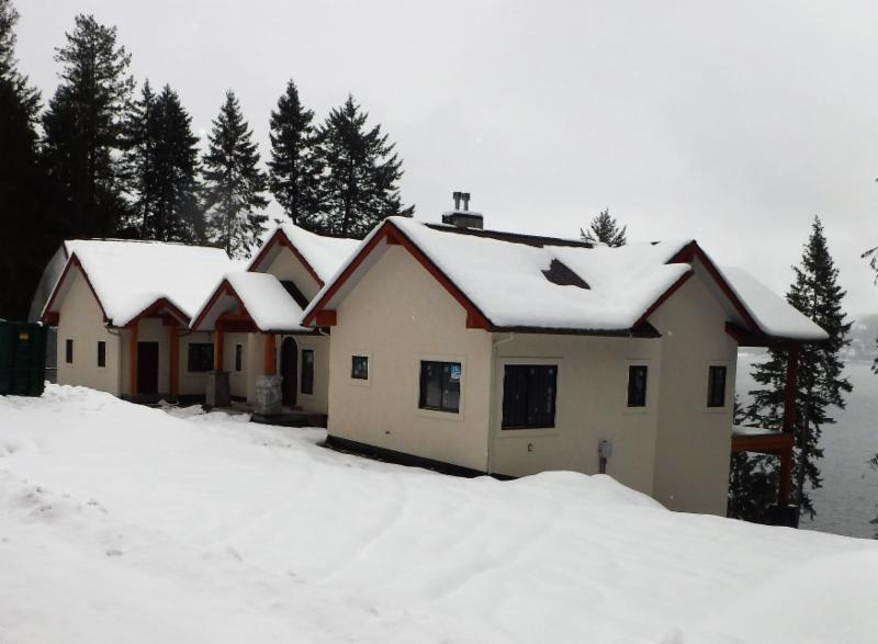 North Idaho winters are harsh, especially on the north shore of the lake. This home is built to withstand the worst.