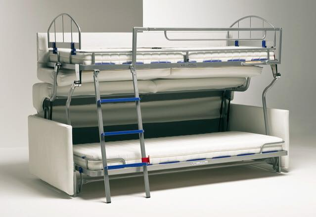 a and mechanism patented at the level this sofa bed containing two beds