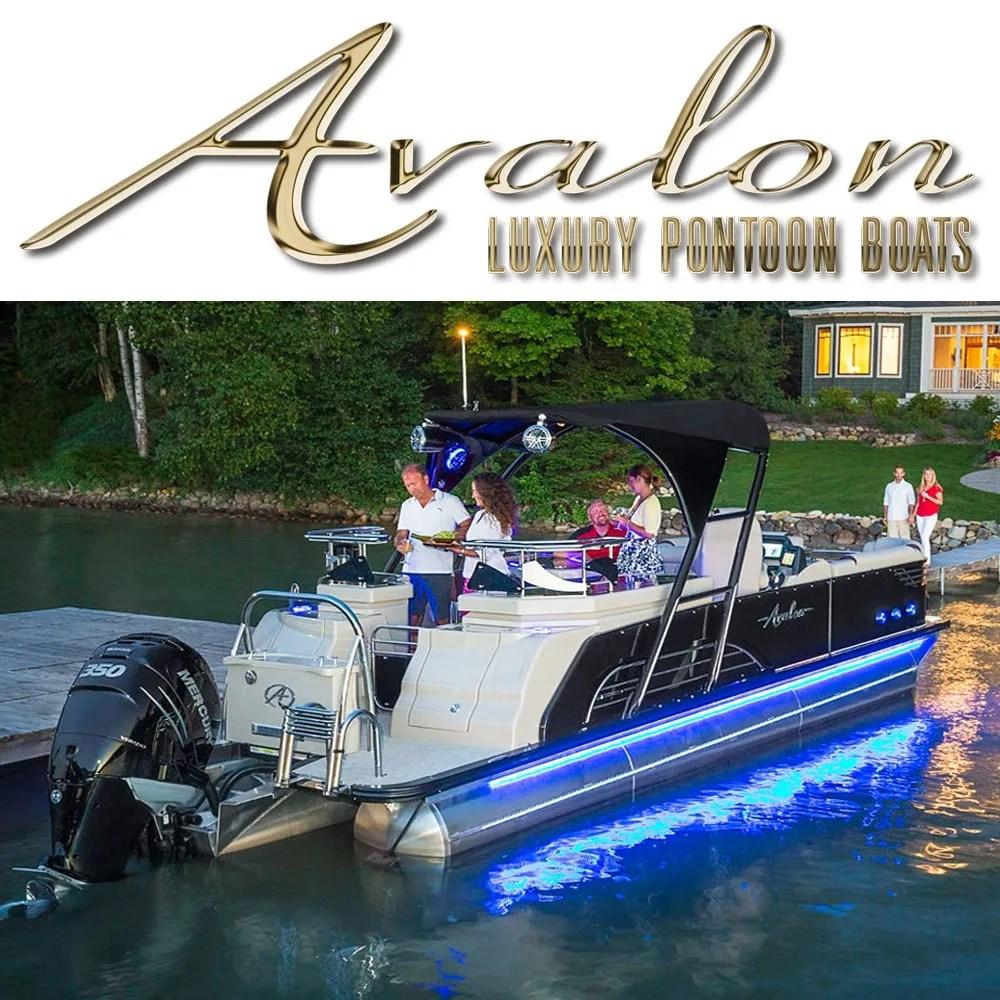 medium resolution of avalon pontoon boats