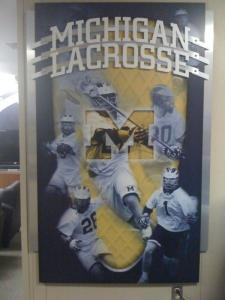 Michigan Wolverines lacrosse poster