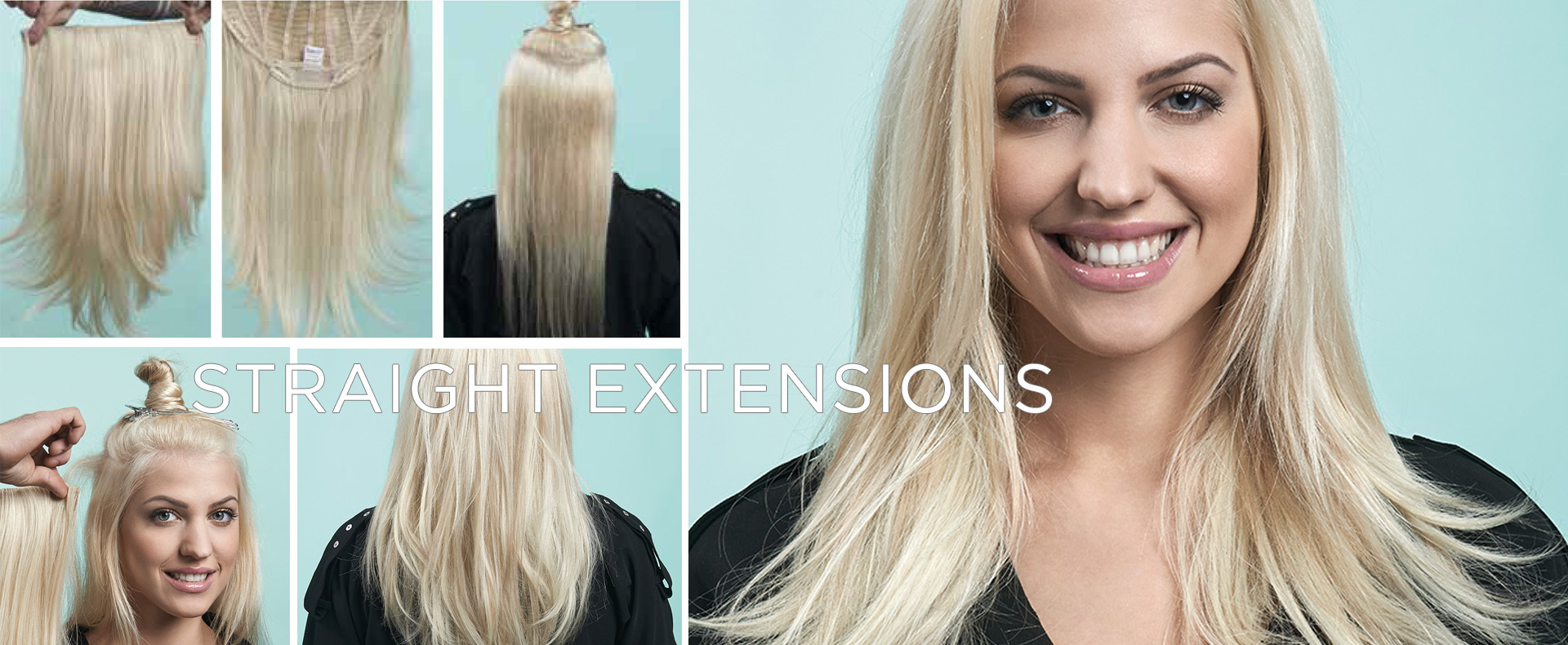 22 inch Straight Extension  Glatte ClipIn Extension