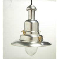 Large Silver Fisherman's Pendant Light or Polished Chrome