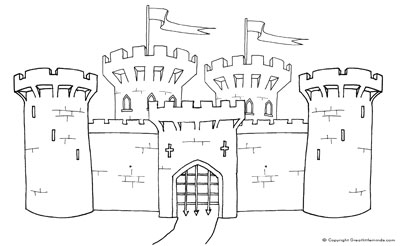 Medieval Castle Colouring Page