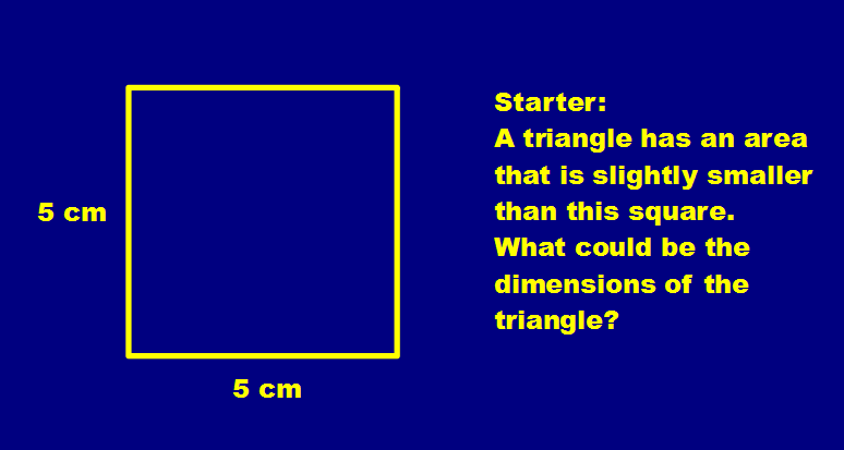 Open-ended Question about Triangle Areas