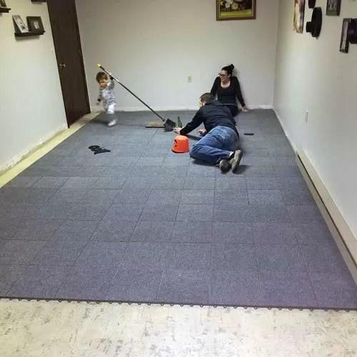 raised indoor floating carpet tiles