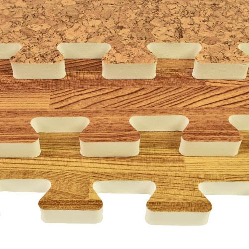 Wood Foam Tiles  Faux Wood Foam Floors Basement Flooring