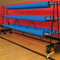 Premium Safety Storage Rack - Mobile 10 Rollers