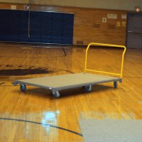 Gym Floor Carpet Cart - Cart for Protective Carpet Tile