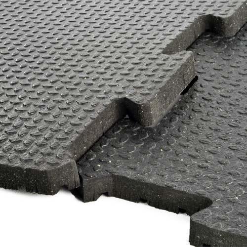 34 Inch Rubber Flooring  2x2 ft Interlocking Tiles Gym