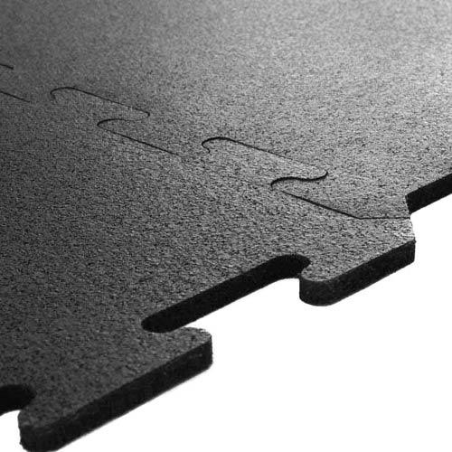 Black Interlocking Rubber Tiles  2x2 Ft Interlocking