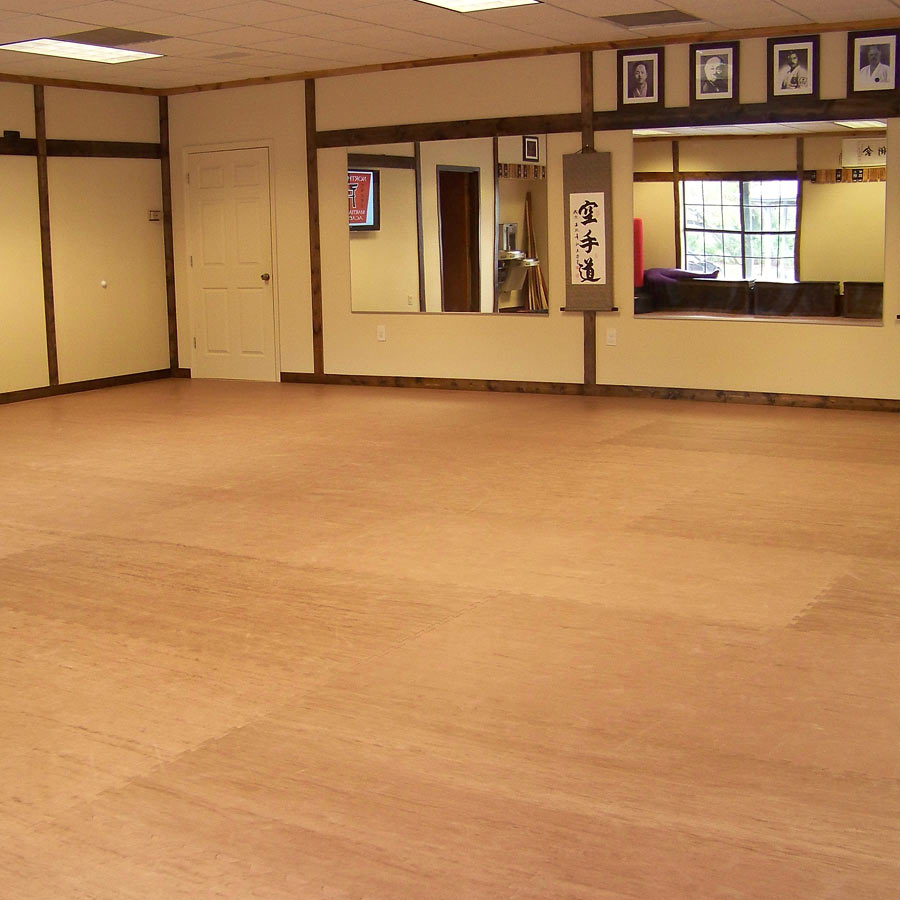 Karate Mats showing foam wood grain studio floors