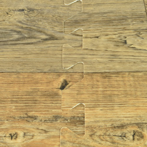 Rustic Wood Grain Foam Tiles  Trade Show Wood Floors