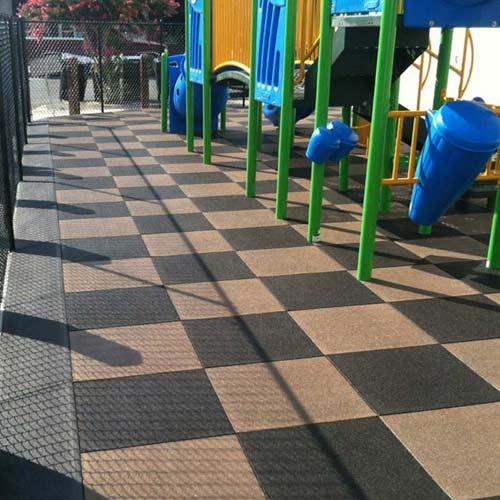 outdoor rubber playground flooring vs