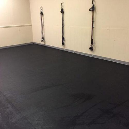 rubber flooring rolls 1 4 inch black geneva per sf