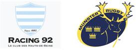 Racing 92 and Munster logos