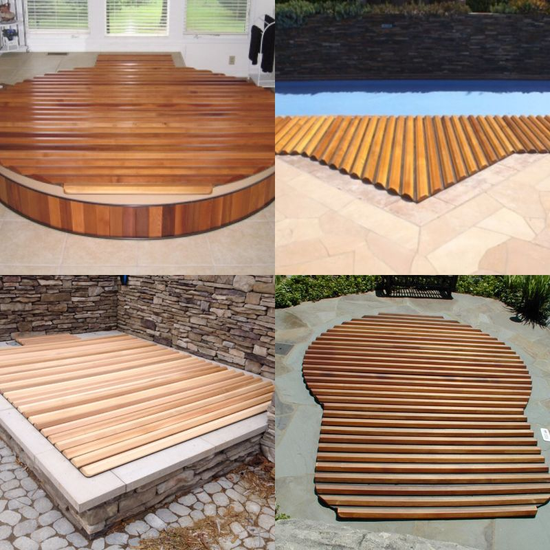 Insulating Structural Cedar Hot Tub Spa Roll Up Cover